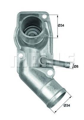 TI21392D Термостат (в корпусе) OP ASTRA F 98-02