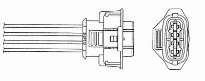 1705 Лямбда-зонд OPEL ASTRA H/VECTRA C 05- 471mm OZA334-SZ5