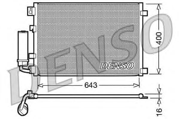 DCN46002 Конденсатор NI Qashqai 1.6, 2.0L 02.07-