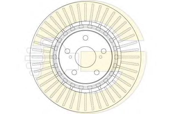 6062651 Диск тормозной TOYOTA RAV4 12- передний вент. D=328мм
