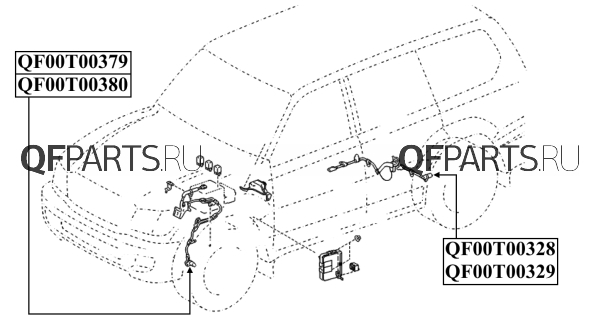 qf00t00380 ИМПУЛЬСНЫЙ ДАТЧИК ABS