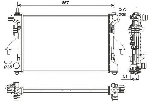 54203 Радиатор FI Ducato, PSA Boxer 06-