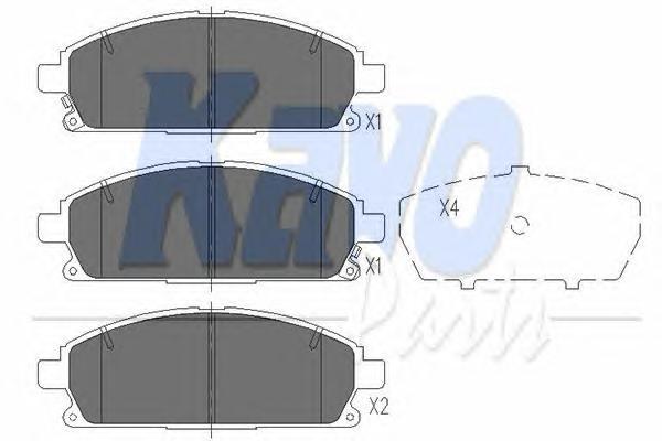KBP6515 Колодки тормозные NISSAN PATHFINDER 97-04/X-TRAIL 01-07 передние