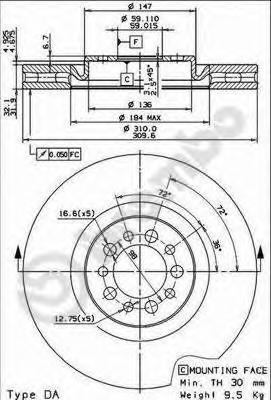 09768020 Тормозной диск