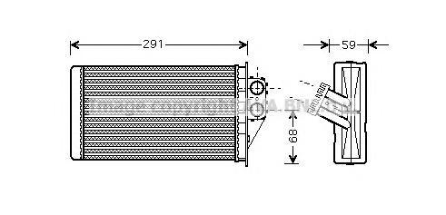 PEA6228 Радиатор отопителя PEUGEOT: 307 (3A/C) 1.4 HDi/1.6 HDi 110/2.0 HDi 110/2.0 HDi 135/2.0 HDi 90 00 - , 307 Break (3E) 1.4