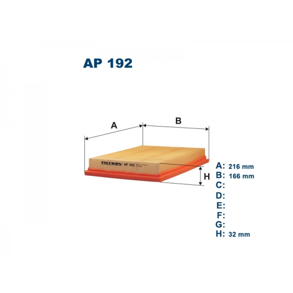 AP192 Фильтр воздушный FORD FIESTA/FUSION/MAZDA 2