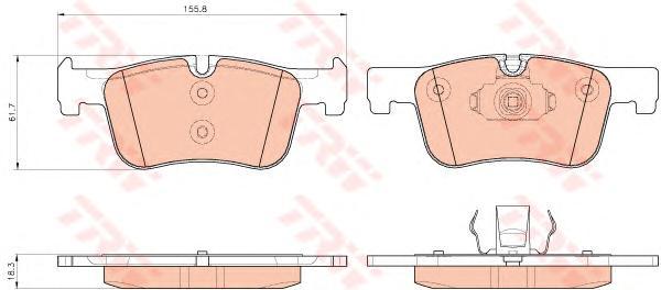 GDB1934 Колодки тормозные BMW 1 F20/21 /3 F30/34/35 /4 F32/36 передние