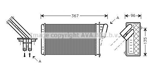 RTA6203 Радиатор отопителя RENAULT LAGUNA 1.6-3.0 93-01