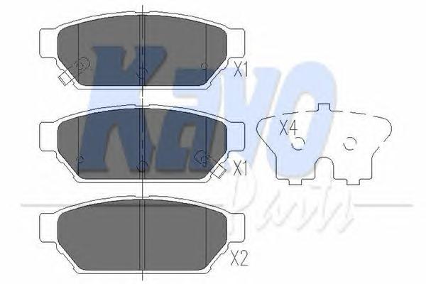 KBP5510 Колодки тормозные MITSUBISHI CARISMA 96-06/COLT 92-05/LANCER 92-03 задние