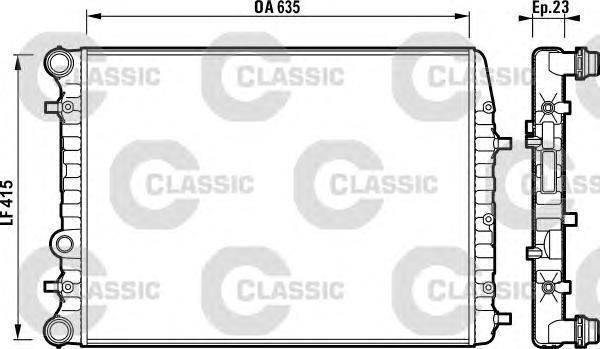 232864 Радиатор VAG POLO/FABIA / IBIZA 1.8T/1.9TD 02-09