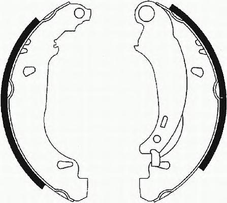 FSB584 Колодки торм.бар.RENAULT LOGAN/CLIO (180x42) торм.система BENDIX