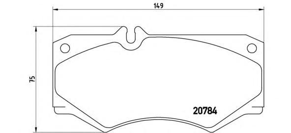 P50003 Колодки тормозные MERCEDES W460-W463/IVECO DAILY передние без датчика