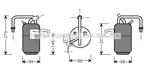 FDD331 Осушитель кондиционера FORD: FIESTA V (JH, JD) 1.25 16V/1.3/1.4 16V/1.4 TDCI/1.6 16V/ST150 01-, FIESTA VAN 1.3/1.4 TDCI 0
