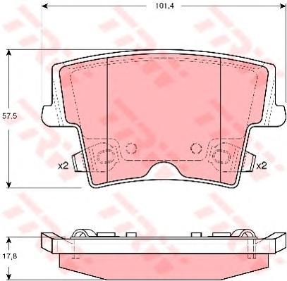 GDB4135 Колодки тормозные CHRYSLER 300C 04- задние