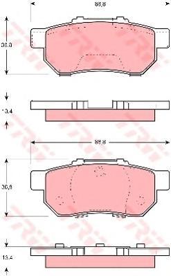 GDB3113 Колодки тормозные HONDA CIVIC 1.4-1.6 91-01 задние