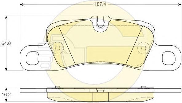 6119626 Комплект тормозных колодок, дисковый тормоз