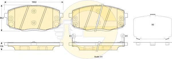 6135239 Колодки тормозные KIA CERATO 09- передние