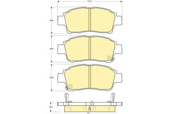6132189 Колодки тормозные TOYOTA YARIS 1.0-1.3 передние
