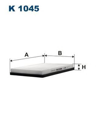 K1045 Фильтр салона VW PASSAT 8/94-9/96