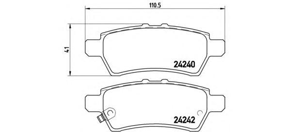 P56060 Колодки тормозные NISSAN PATHFINDER 05-/NAVARA 05- задние