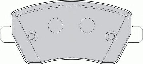 FDB1617 Колодки тормозные NISSAN MICRA 03/RENAULT CLIO 05передние