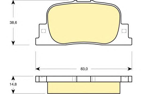 6132789 Колодки тормозные TOYOTA CAMRY V20 2.2-3.0 96-01/V30 2.4-3.0 01- задние