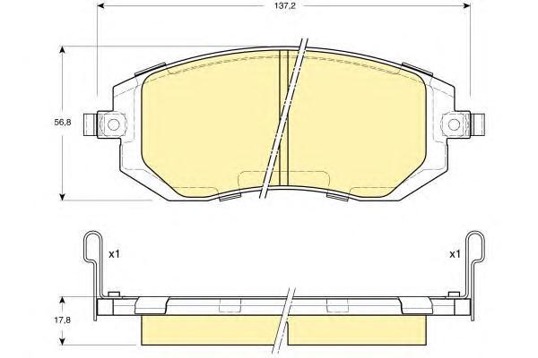 6133289 Колодки тормозные SUBARU FORESTER 01-/IMPREZA 01-/LEGACY 98- передние