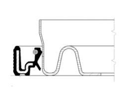 20034106B Сальник коленвала передн 35x47x7 TxA RWDR-CALZATO Renault Megane 1.5DCi 01