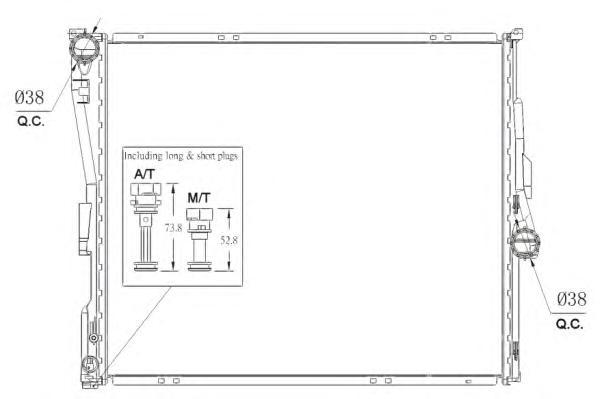 53956 Радиатор BMW X3 МКПП