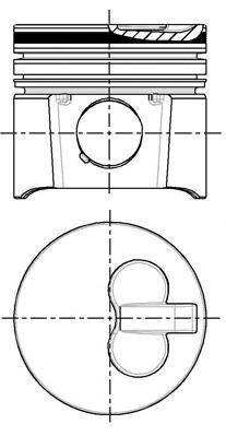 8715200710 Поршень CITROEN BERLINGO/PEUGEOT PARTNER 1,9D 0,5mm(комплект)