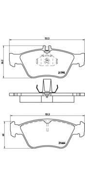 P50023 Колодки тормозные MERCEDES W210/W202/C208 2.0-2.8 передние