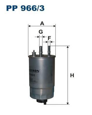 PP9663 Фильтр топливный FORD/FIAT/PEUGEOT/CITROEN/OPEL 1.3D-3.0D 04-