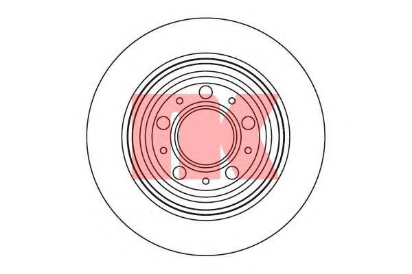 204854 Диск тормозной S70/V70 97-00/XC70 97-02 задний D=288мм.