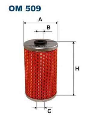 OM509 Фильтр масляный MB W201 M102 -9/84
