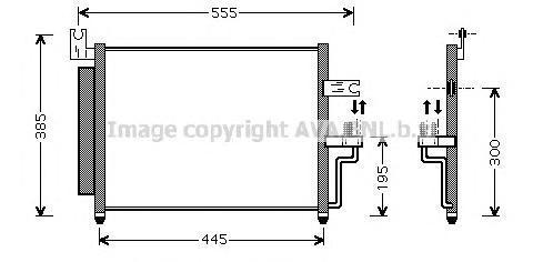 HY5081 Радиатор кондиционера HYUNDAI: ACCENT (LC) 1.3/1.5/1.5 CRDi 00 - , ACCENT седан (LC) 1.5 99 -