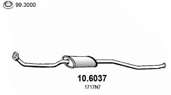 106037 Средний глушитель выхлопных газов