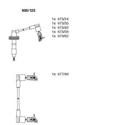 600123 Комплект проводов зажигания