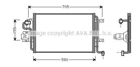 AI5130 Конденсер VAG A3 / TT / G4 1.6/1.8/1.9TD 96-