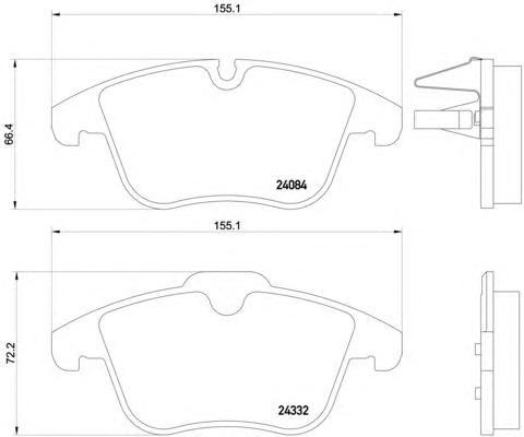 P61106 Колодки тормозные CITROEN C5 1.6-2.0 08- передние