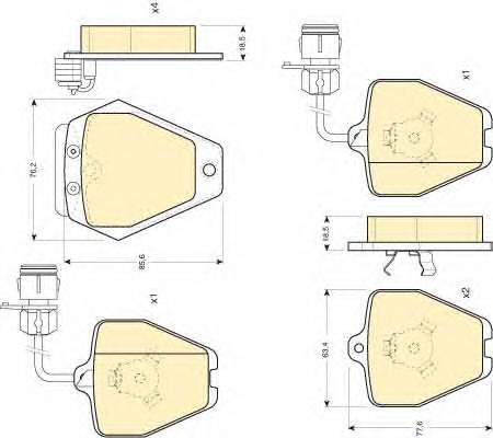 6111621 Комплект тормозных колодок, дисковый тормоз