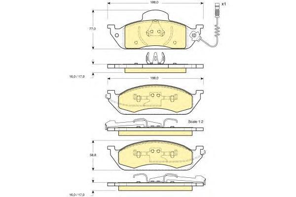 6113785 Колодки тормозные MERCEDES W163 ML230-ML430 передние