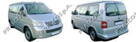 VW9172133 Решетка переднего бампера, правая (для а/м с противот. фарами) серая  / VW Transporter T-5 03~