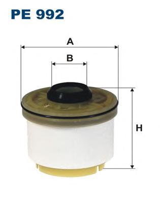 PE992 Фильтр топливный TOYOTA HIACE 2.5 06-/HILUX III 2.5 07-