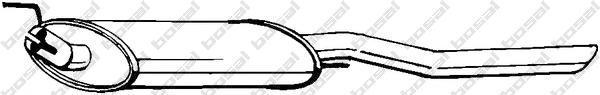 233733 Глушитель VW VENTO 1.6-2.0/1.9D 91-98