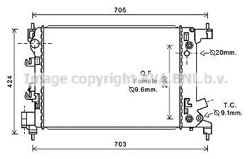 CT2043 Радиатор CHEVROLET AVEO 1.4 A/T 11-