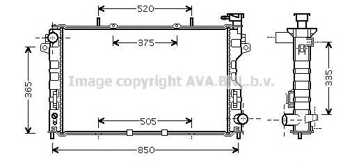CRA2081 Радиатор системы охлаждения CHRYSLER: VOYAGER III 2.4 00 -