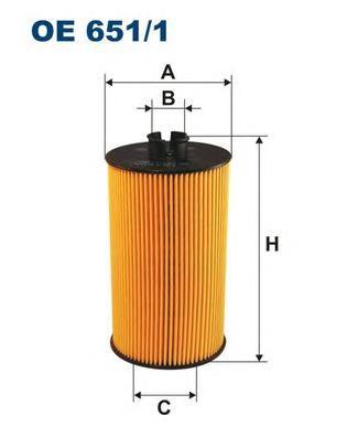 OE6511 Фильтр масляный MB MB ATEGO/VARIO