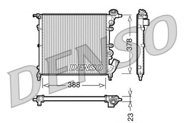 DRM23002 Радиатор системы охлаждения RENAULT: 19 I (B/C53) 1.2/1.4 (B/C53P) 88 - 92 , 19 I Chamade (L53) 1.2/1.4 (L532, L53P) 88