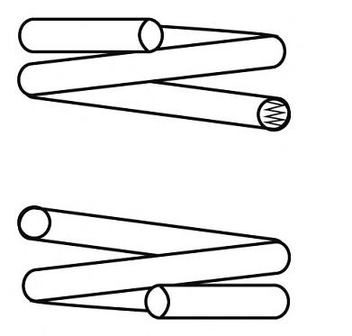 14870708 Пружина подвески передн, HYUNDAI: SONATA III 1.8 i/2.0 i/2.0 i 16V/3.0 i V6 93-98