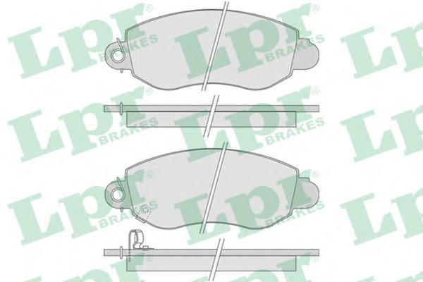 05P775 Колодки тормозные FORD TRANSIT 00-06 передние с индикат.износа